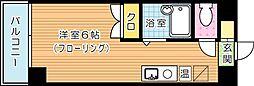 カーサ黒崎[4階]の間取り