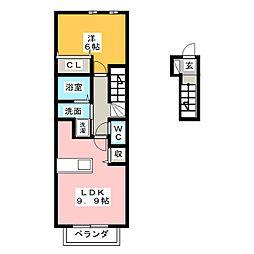 パラッツオ[2階]の間取り