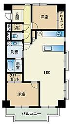 エバーライフ桜坂[4階]の間取り