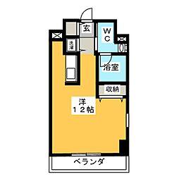 アーバンポイント高崎 8階ワンルームの間取り