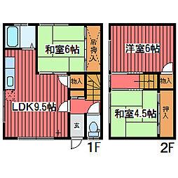 [テラスハウス] 北海道札幌市豊平区西岡四条11丁目 の賃貸【/】の間取り