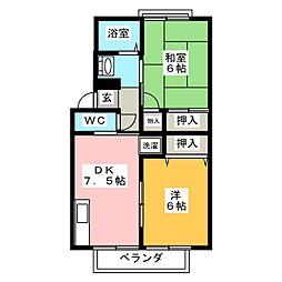 宮城県仙台市若林区文化町の賃貸アパートの間取り