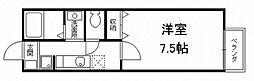 京都府京都市伏見区深草ケナサ町の賃貸アパートの間取り