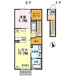 ボナール A棟[A202号室]の間取り