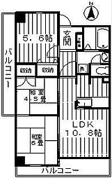 神奈川県川崎市宮前区犬蔵2丁目の賃貸マンションの間取り