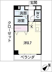 ホウケン八幡[3階]の間取り