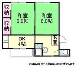 日経社コーポ[3階]の間取り