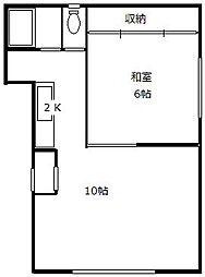 北海道札幌市西区西町南11丁目の賃貸アパートの間取り
