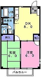 東京都東村山市廻田町1丁目の賃貸アパートの間取り