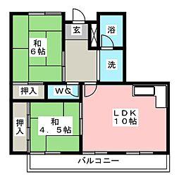 ハピネス小嶋[2階]の間取り