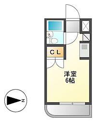 メゾン・ド・ソヌール[4階]の間取り