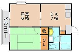ブライトンハウス[2階]の間取り