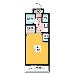ルフェール博多駅南[2階]の間取り