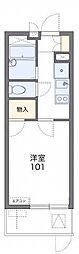 JR東海道・山陽本線 摂津富田駅 徒歩20分の賃貸マンション 2階1Kの間取り