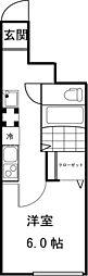 ソルナクレイシア井の頭[104号室]の間取り