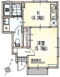サンライズ渋谷本町[1階]の間取り