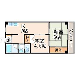 兵庫県西宮市小曽根町1丁目の賃貸マンションの間取り