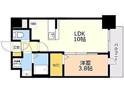 ビリーヴ ルーム 6階1LDKの間取り