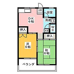 セゾンアサイ A棟[1階]の間取り