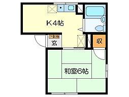 アーバン88[2階]の間取り