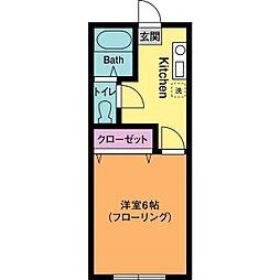 第3城所ハイツ[1階]の間取り