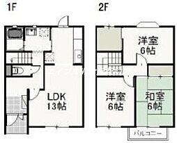 カンパニュール津島[1階]の間取り
