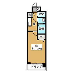 ベラジオ京都一乗寺[1階]の間取り