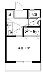 ラベンダー湘南2[1階]の間取り