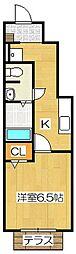クレール筑紫野[1階]の間取り