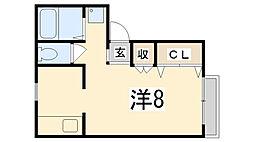 サンライフ松本[201号室]の間取り