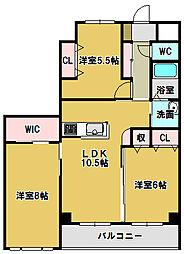 三重県鈴鹿市末広東の賃貸マンションの間取り