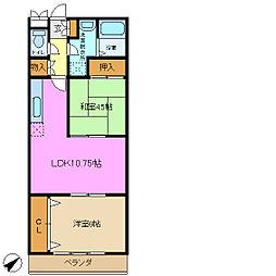 グレースヒル鴨居2[1階]の間取り
