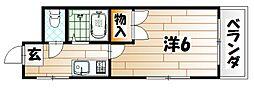 シャトレ井堀[2階]の間取り