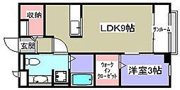 フラワータウン ダフォディル[2階]の間取り