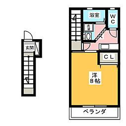 パークサイドイズミ[2階]の間取り