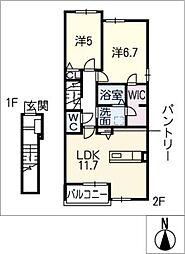 ウィステリア III[2階]の間取り