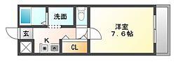 パストラル桜井[2階]の間取り
