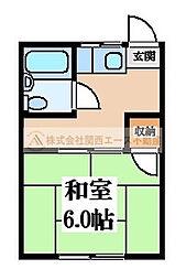 つくしマンション[2階]の間取り