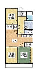 ドリームリマ[3階]の間取り