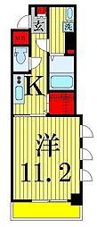 東京都足立区六町4丁目の賃貸マンションの間取り