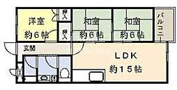 インペリアル京都[1003号室号室]の間取り