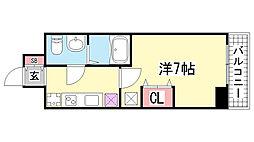 ラ・フォーレ神戸[1001号室]の間取り