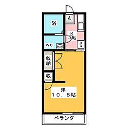 エーダイロイヤルコーポ[2階]の間取り