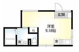 神奈川県横浜市旭区二俣川2丁目の賃貸アパートの間取り