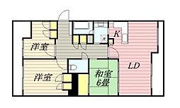 スカイビュー戸塚2号棟[3階]の間取り