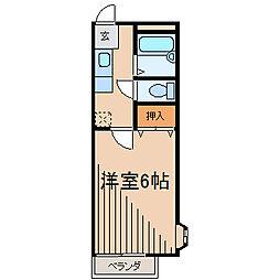 スナイプ・ドミ[1階]の間取り