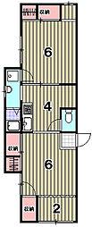 STH紫野[107号室]の間取り
