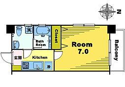 アローヘッドビル[301号室]の間取り
