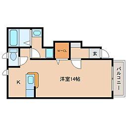 静岡県静岡市清水区緑が丘町の賃貸アパートの間取り