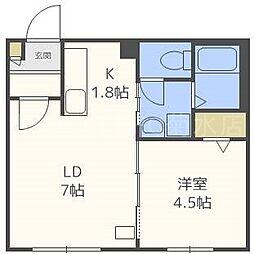 仮)東札幌1・6A[3階]の間取り